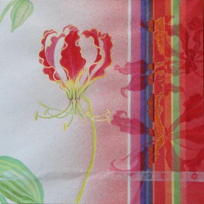 華手箱 / A Flower Case-12b |  軍道紙、バイアスコアパネル、顔料、にかわ  30.0 x 30.0 cm 2012  Handmade mulberry paper,paper panel,pigments,glue(nikawa)