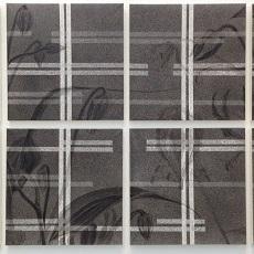 細工格子をすかして見れば2016 / Behind the Latticed Window 2016 |  混合和紙(白峰)墨 牛皮和膠  62 x 126 cm 2016 Japanese paper sumi Nikawa